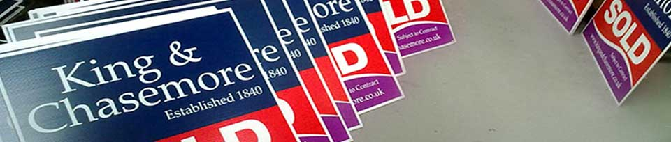 screenprinted graphics for estate agent boards in sussex